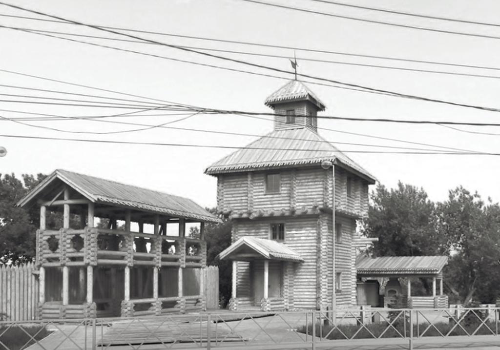 Воссозданная северо‑западная башня «Самарского городка»